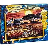 Ravensburger 28819 - Afrikanische Impressionen - Malen nach Zahlen Premium, 40x30 cm