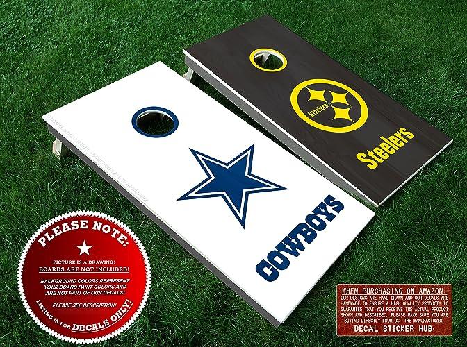 brand new d28c4 01207 Amazon.com: Dallas Cowboys vs Pittsburgh Steelers Cornhole ...