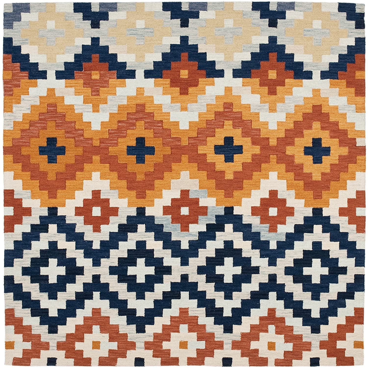 Amazon.com: Safavieh Chelsea Collection HK726A Hand Hooked Multicolored  Premium Wool Square Area Rug (6u0027 Square): Kitchen U0026 Dining