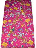 Maviss Homes Dress Making Hand Block Printed Fabric Indian Cotton Craft Sewing Material Supplies Fabric 5 Yard (Pink)