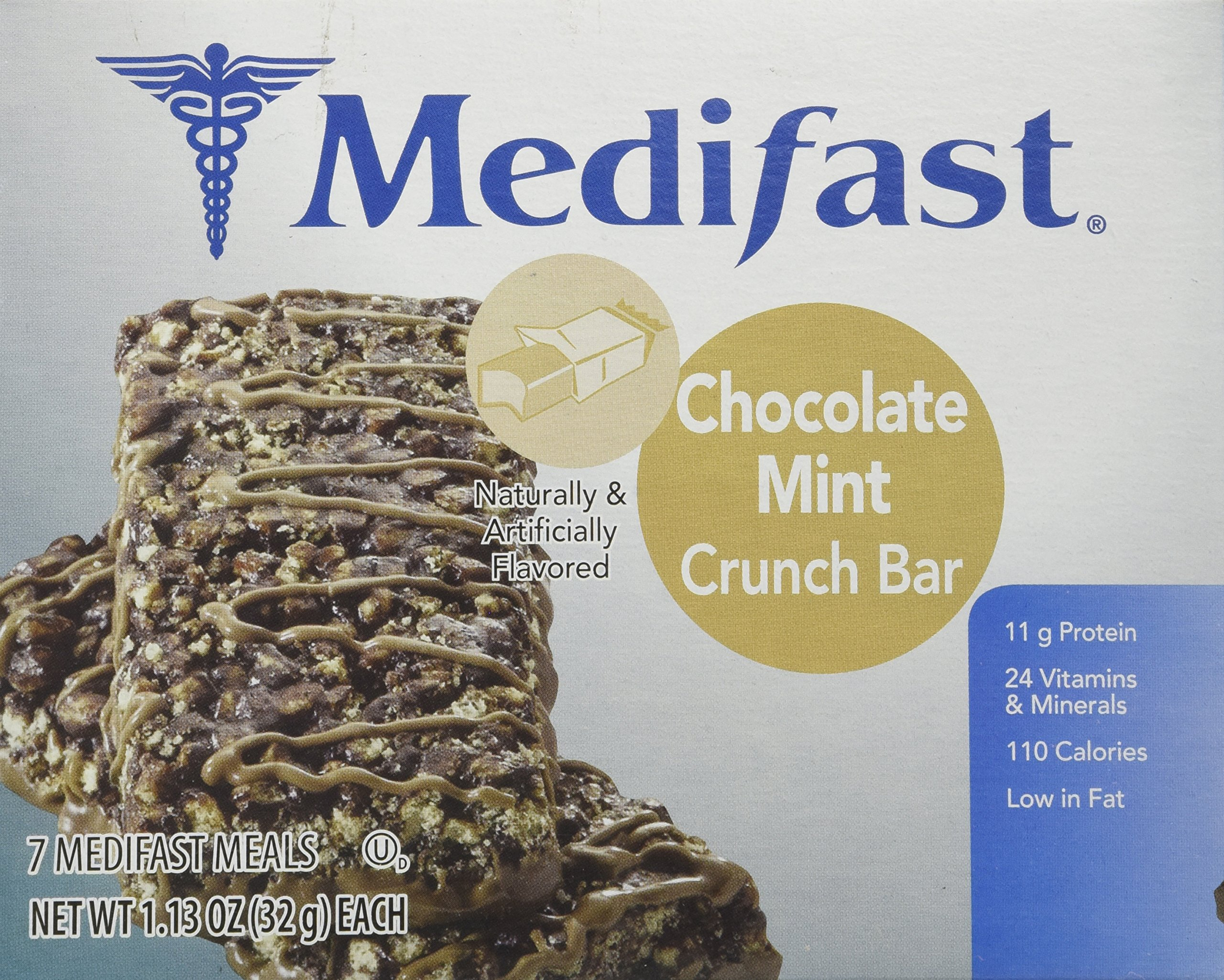 Medifast Chocolate Mint Crunch Bars (1 Box/7 Servings) by Medifast