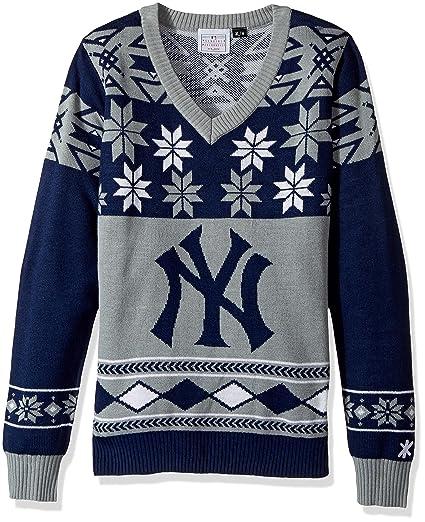 0b788fc2 Amazon.com : New York Yankees Womens Big Logo V-Neck Sweater Medium ...