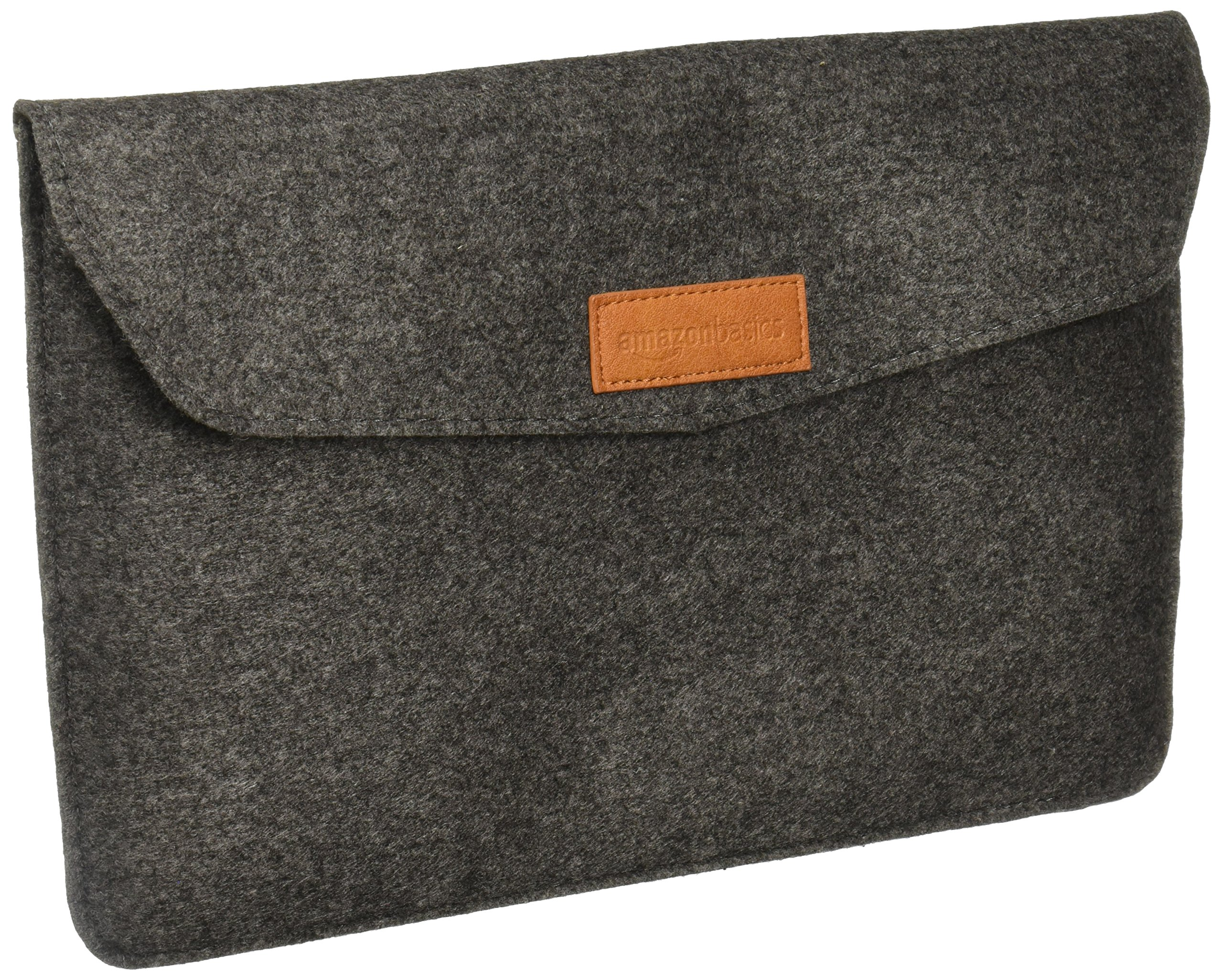 Amazon Basics 11 Inch Felt Macbook Laptop Sleeve Case – Charcoal