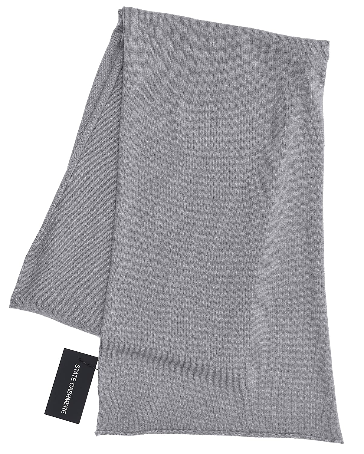 Heather Grey State Cashmere 100% Cashmere Solid color Scarf Wrap, Soft and Cozy 80 x13.5