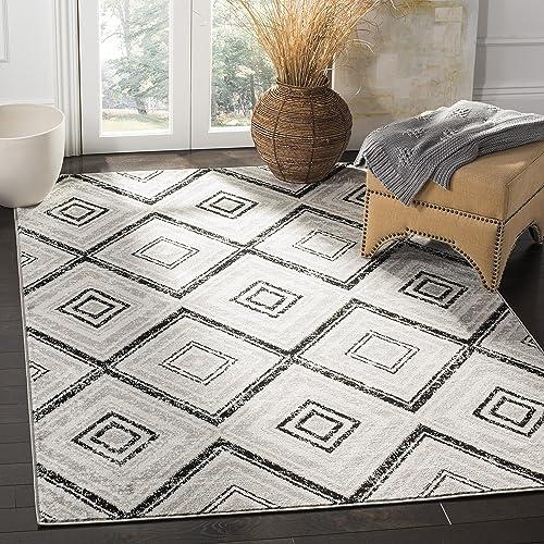 Safavieh Skyler Collection SKY120J Diamond Distressed Non-Shedding Stain Resistant Living Room Bedroom Area Rug