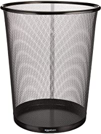 bathroom wastebasket. AmazonBasics Mesh Wastebasket Shop Amazon com Wastebaskets
