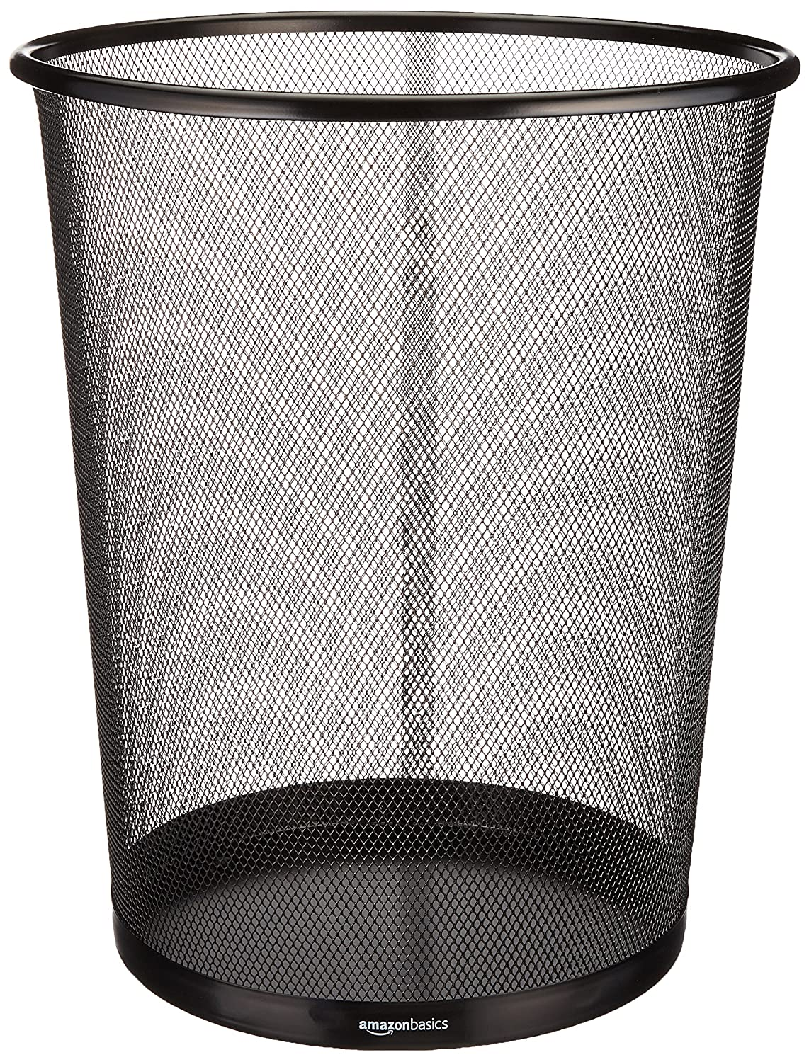 AmazonBasics Mesh Wastebasket, Black, 6-Pack