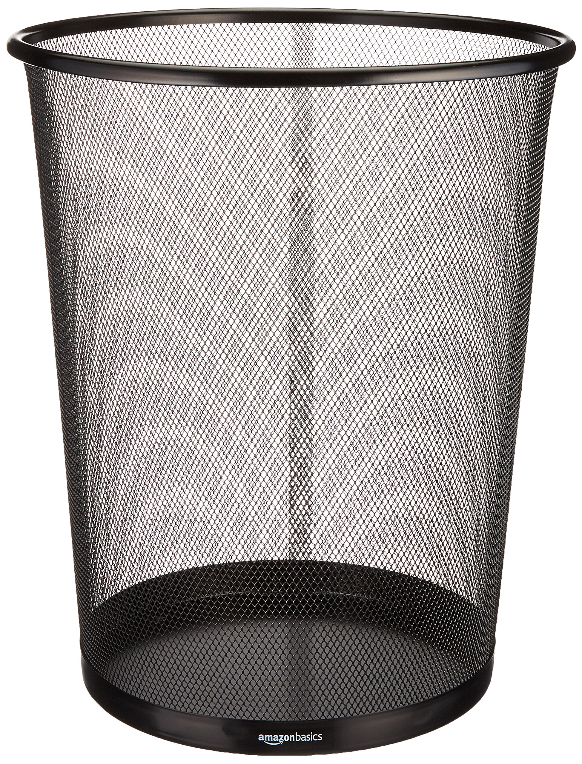 AmazonBasics Mesh Trash Can Wastebasket, Black, 6-Pack by AmazonBasics