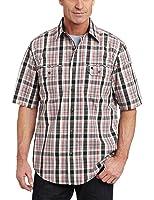 Carhartt Men's Standish Plaid Short Sleeve Shirt Button Front Ripstop