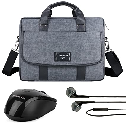 3a2a906baae Vangoddy Chrono Grey Oxford Messenge Bag Tote for Dell Alienware 13 |  Chromebook 13 | XPS