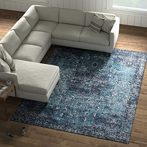 Amazon Brand Stone Beam Contemporary Distressed Vintage Area Rug