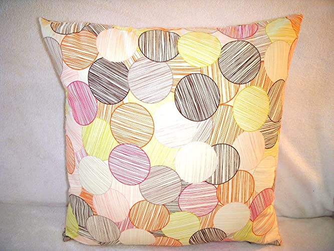 9c9f01e7f6 Image Unavailable. Image not available for. Color: Orbs Pillow Cover  Circles Pink ...