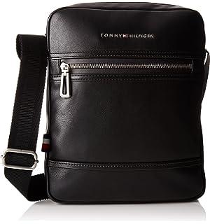 Tommy Hilfiger Corporate Mix Weekender, Sacs portés épaule homme, (Black), 25x29x55 cm (B x H T)