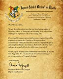 Harry Potter Hogwarts School Acceptance Letter Personalized with Any Name