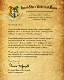 Amazon Price History for:Harry Potter Hogwarts School Acceptance Letter Personalized with Any Name