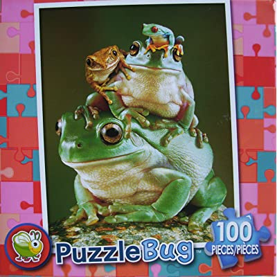 Puzzlebug 100 Piece Puzzle - Froggy Pileup: Toys & Games