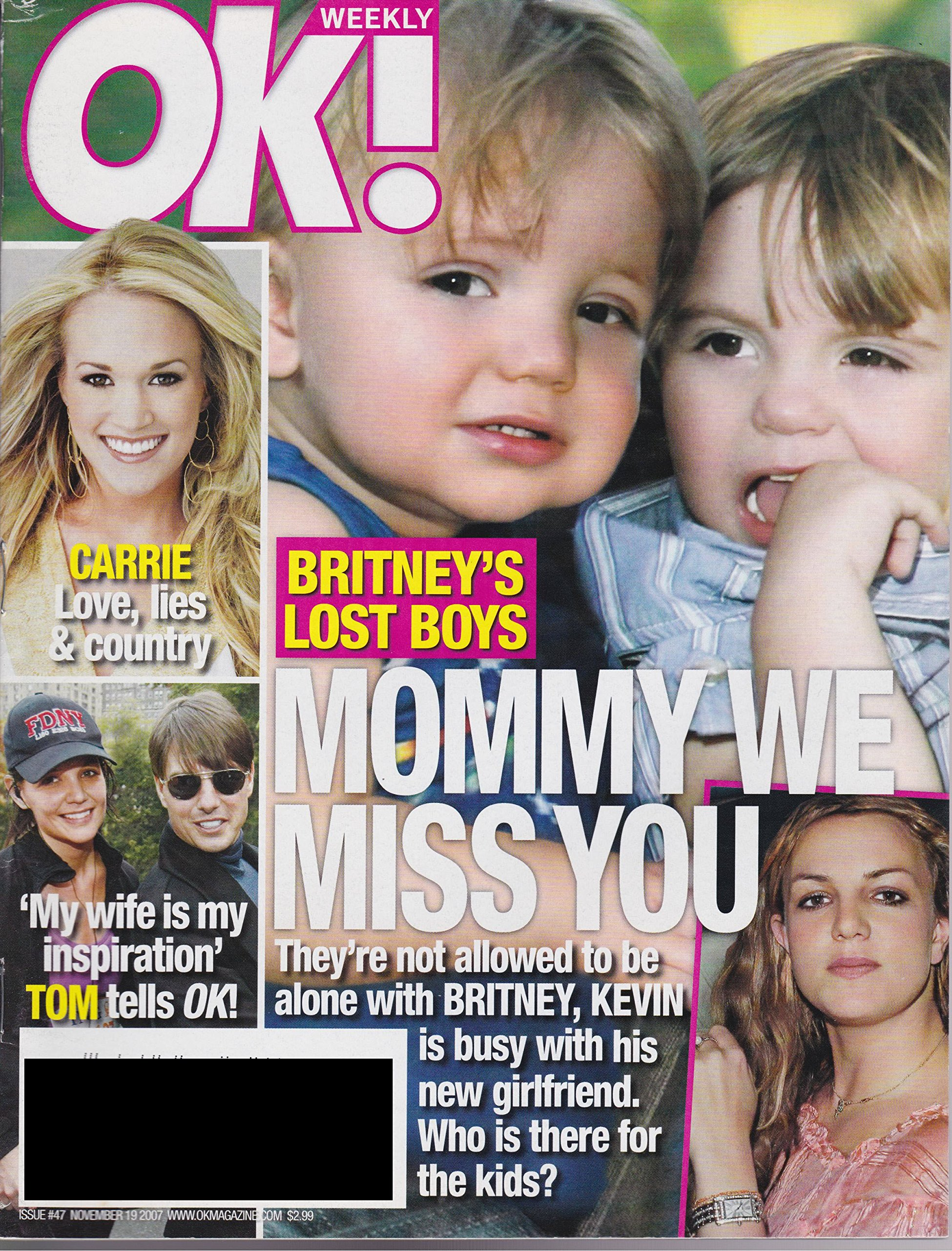 OK Weekly Magazine Back Issue - November 19, 2007 - features Britney Spears  kids / Kevin Federline on Cover: Amazon.com: Books