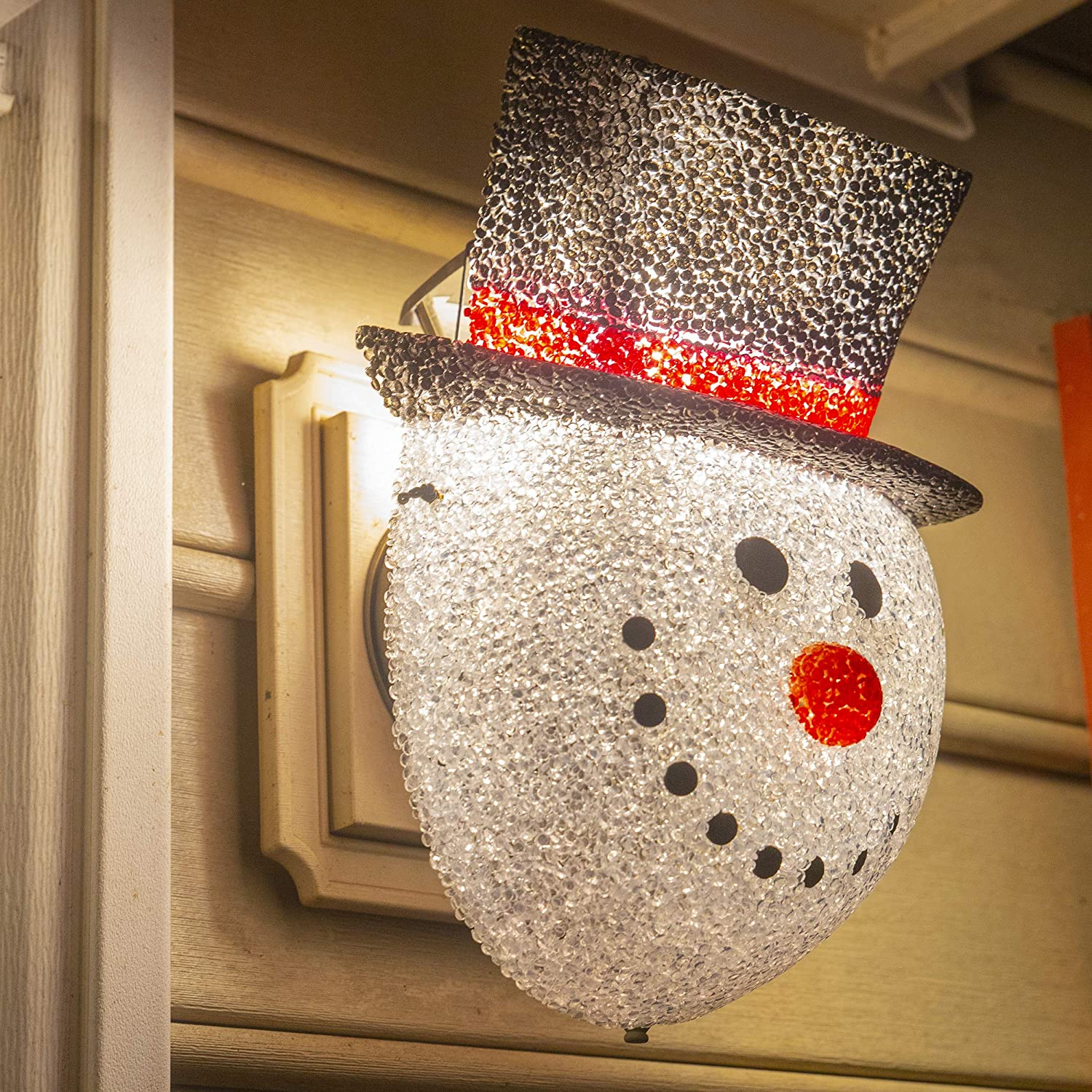 Snowman Porch Light Cover Outdoor Patio Winter Christmas ... on Patio Cover Decorating Ideas id=47431