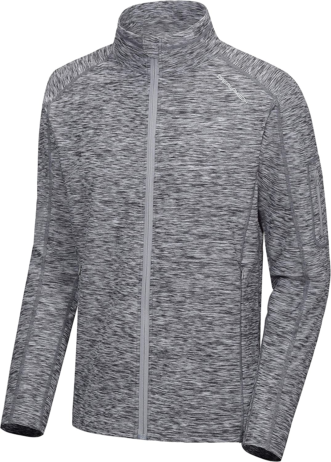 Dasawamedh Men's Running Sport Track Jacket Full Zip Workout Athletic Fitness Jackets for Training