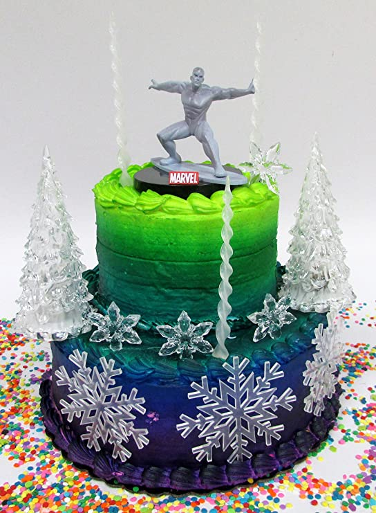Amazon Marvel Comic Book Super Hero Iceman Birthday Cake Topper