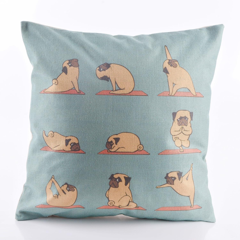 decorlution hacer ejercicio perro patrón manta funda de ...