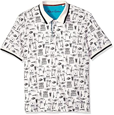 3a60599a Amazon.com: Robert Graham Men's Missile Short Sleeve Knit Polo: Clothing