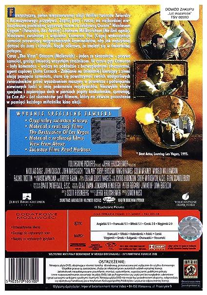Con Air [Region 2] (IMPORT) (No hay versión española): Amazon.es: Nicolas Cage, John Cusack, John Malkovich, Ving Rhames, Nick Chinlund, Steve Buscemi, ...