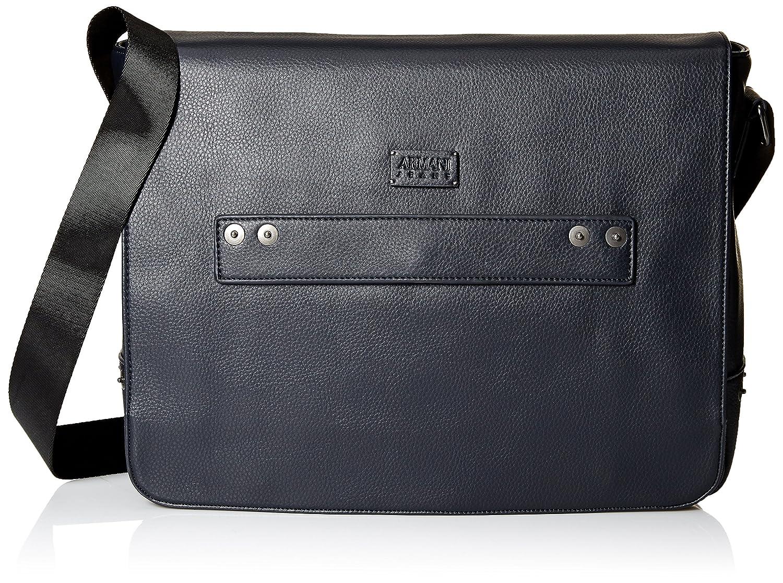 Image of Armani Exchange Men's Deerskin Look Embossed Messenger Bag Luggage