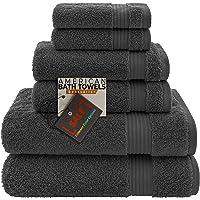 Toallas de baño americanas, 2 paños de baño, 2 toallas de mano, 2 toallas de baño, suaves y absorbentes de 600 g/m²…