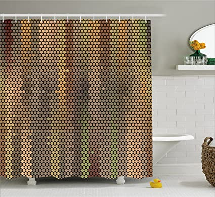 Amazon.com: Earth Tones Shower Curtain by Ambesonne, Party ...