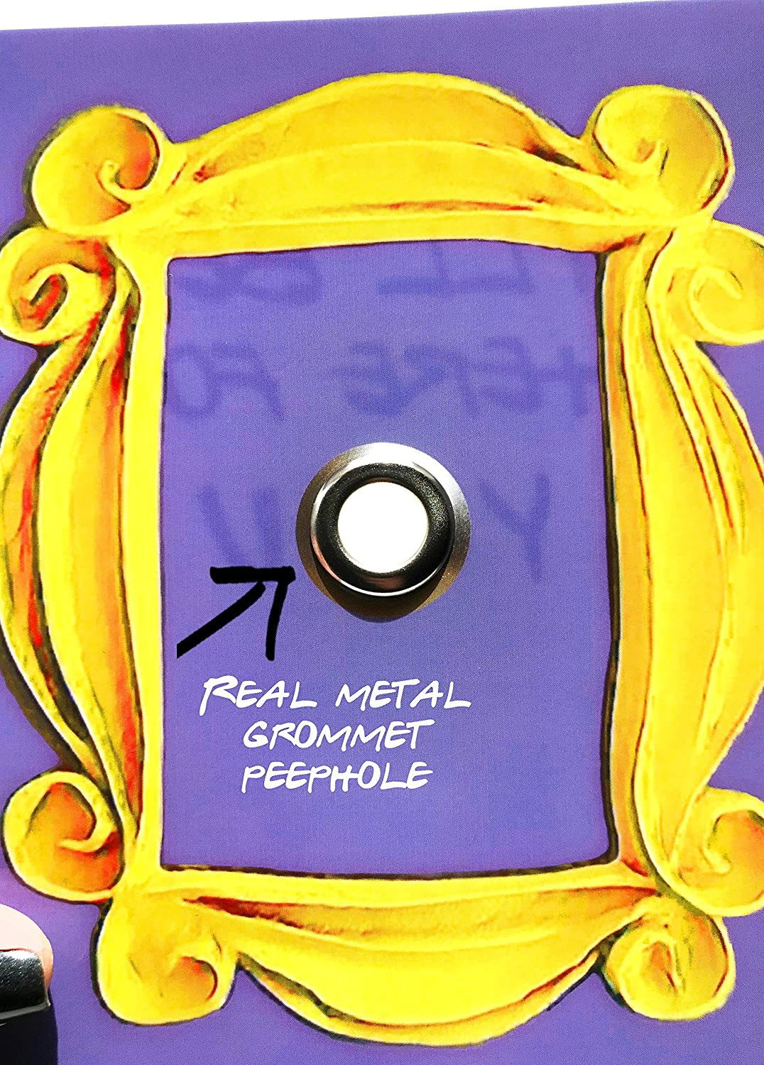 Friends Tv Show Peephole Purple Door Yellow Frame Ill Be There For