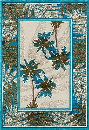Art Carpet Palm Coast Collection Tranquil Woven Area Rug, 9 2 x 12 4 , Beige Aqua Green