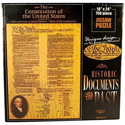 American Documents The Constitution of The United States Jigsaw Puzzle, 750-Piece: Toys & Games