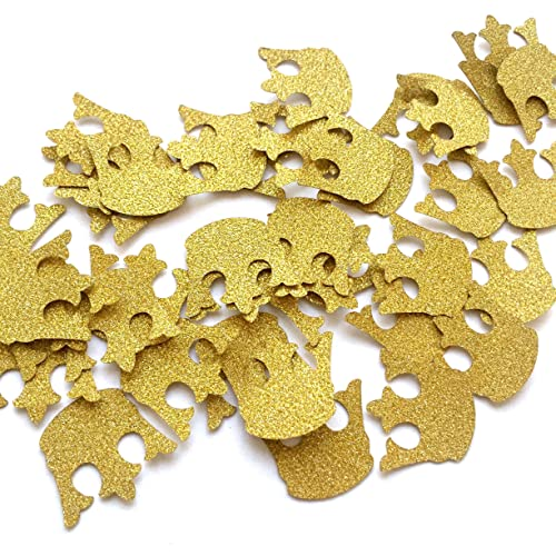 Glitter Gold Royal Prince King Crown Confetti   2 Packs   (40ct Each Pack)