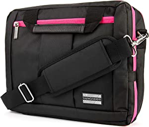 Pink Convertible Laptop Bag 10 to 12 inch for Dell Inspiron 11, ChromeBook, Latitude 11 12, XPS 12