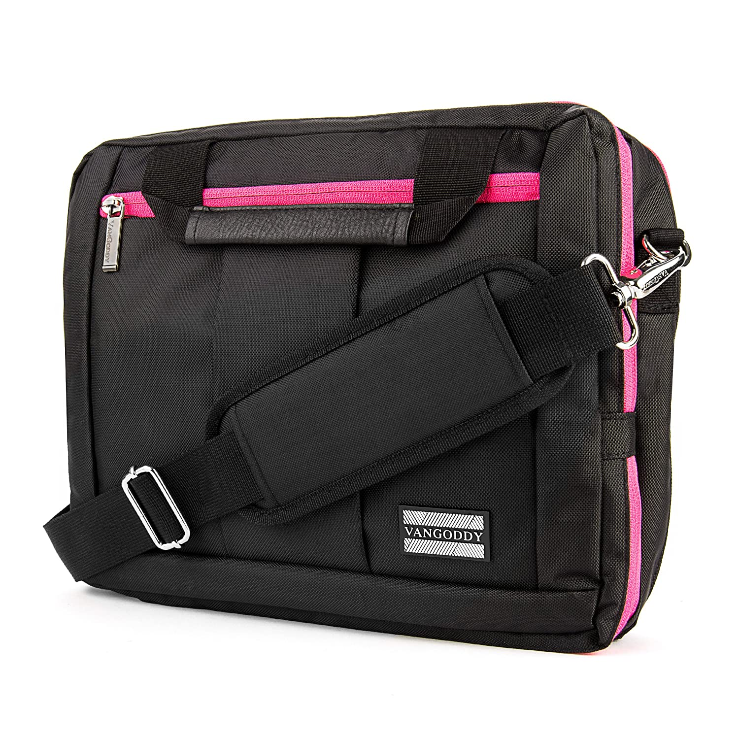 El Prado 3 in 1 Carry-On CrossBody Bag, Backpack and Briefcase - Pink Trim [LRG] For 14 to 15.6 inch Laptop Notebook Ultrabook Convertible Computers hot sale