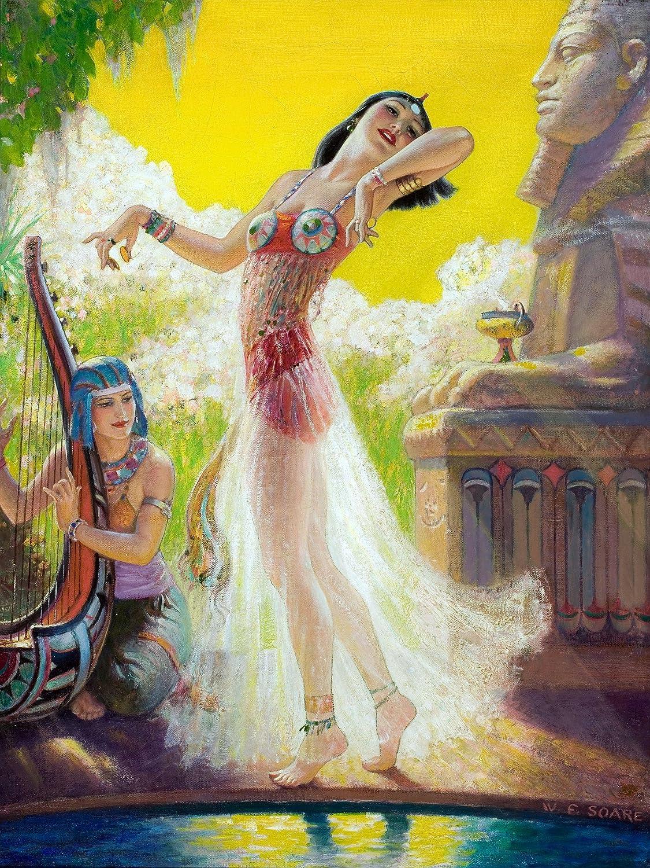 Egypt Dance Girl Woman Pyramid W Soare Tile Mural Backsplash Art
