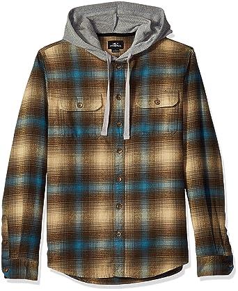 1cfefe66d5a8 Amazon.com: O'Neill Men's Hooded Shacket Shirt, Cultivate Khaki, XL ...