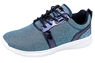 new product ee02f 22641 gibra Damen Sneaker, Sehr Leicht und Bequem, Blau Glitzer ...