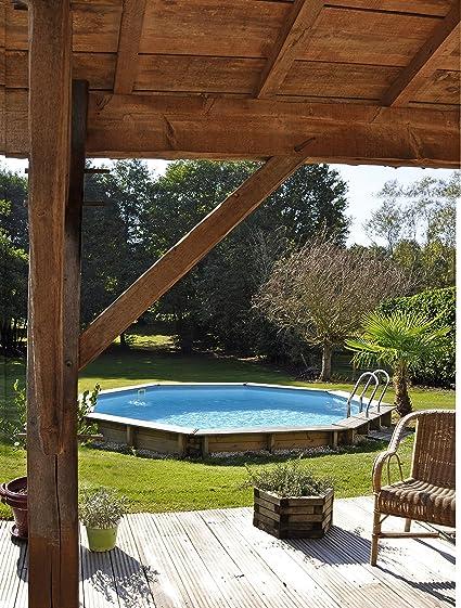 Piscina de madera GRE redonda Violette Wooden Pool GRE 790085 ...