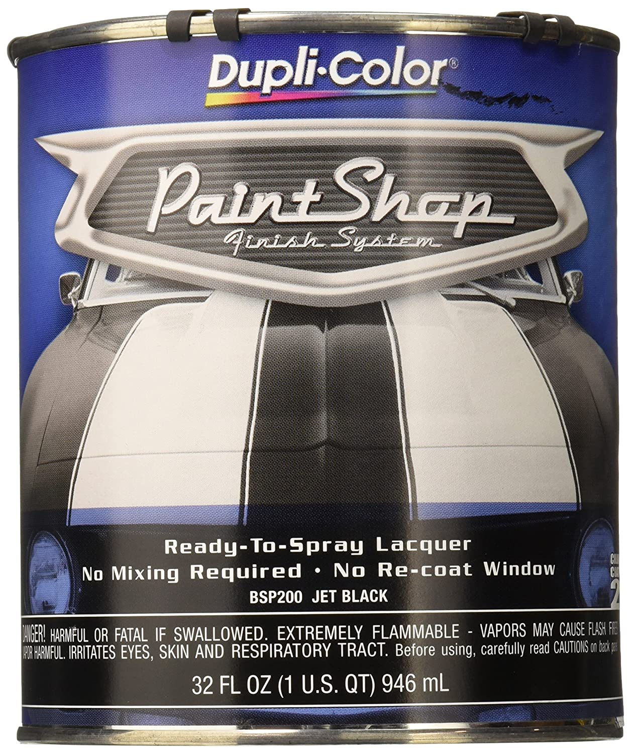 Amazon.com: Dupli-Color BSP200 Jet Black Paint Shop Finish System ...