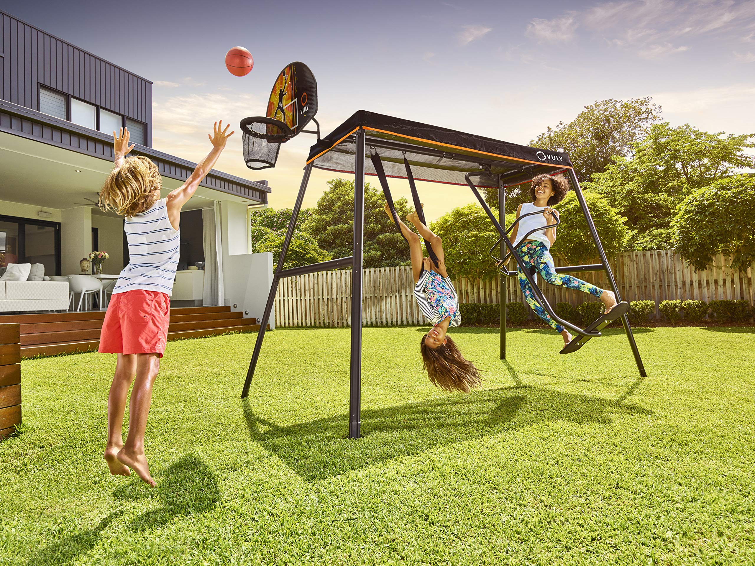 Vuly Basketball Hoop and Ball Set Compatible Trampolines 360 Swingsets by Vuly (Image #5)