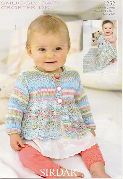 3a2743bf3990 Sirdar Snuggly Baby Crofter DK Knitting Pattern 1252  Amazon.co.uk ...