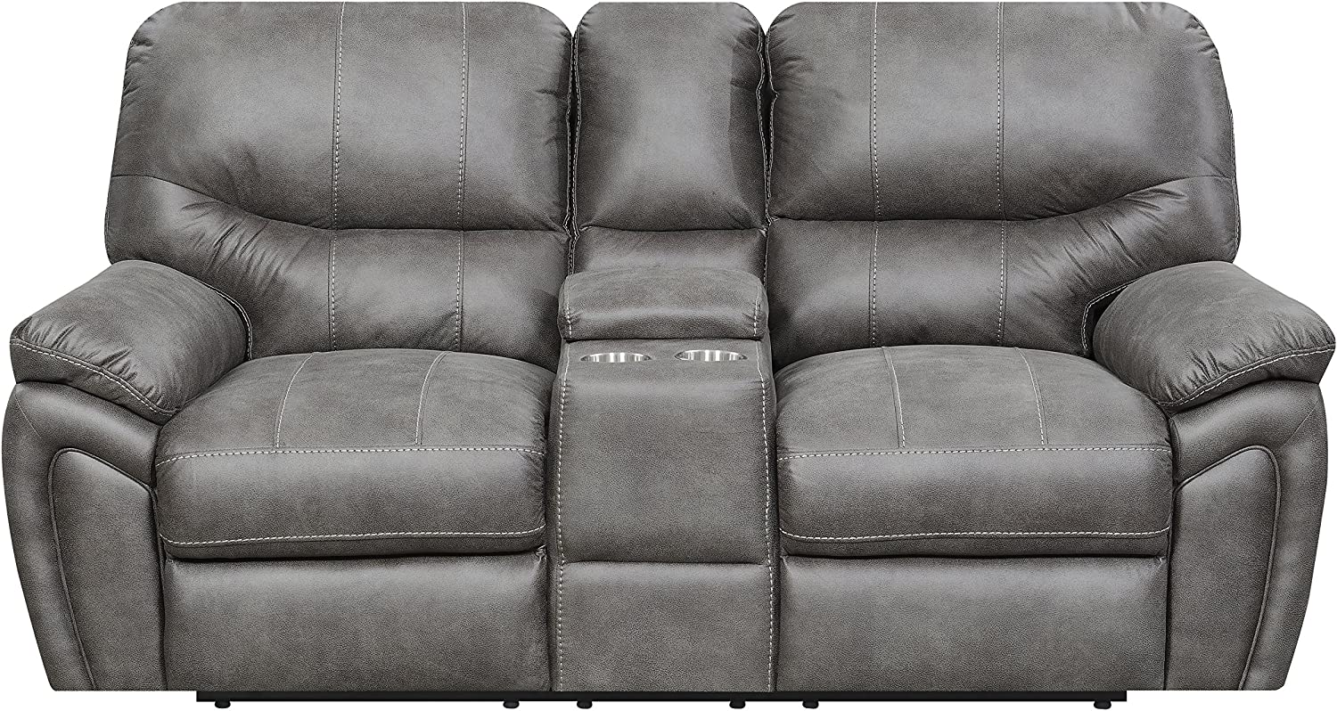 Mstar Reeves Power Reclining Loveseat 76 X 38 X 40 Grey Amazon Co Uk Kitchen Home