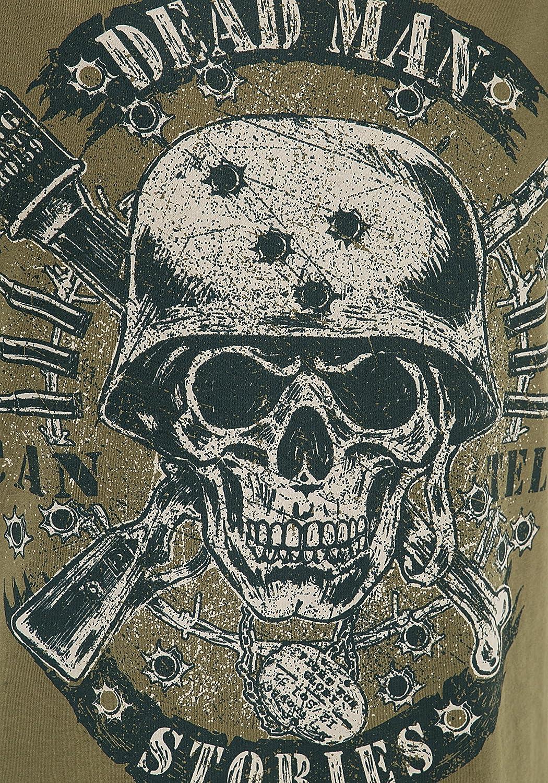 King Kerosin Tank Top mit Skull Print Herren Rundhals Ohne /ärmel Tanktop l/ässig geschnitten Bedruckt