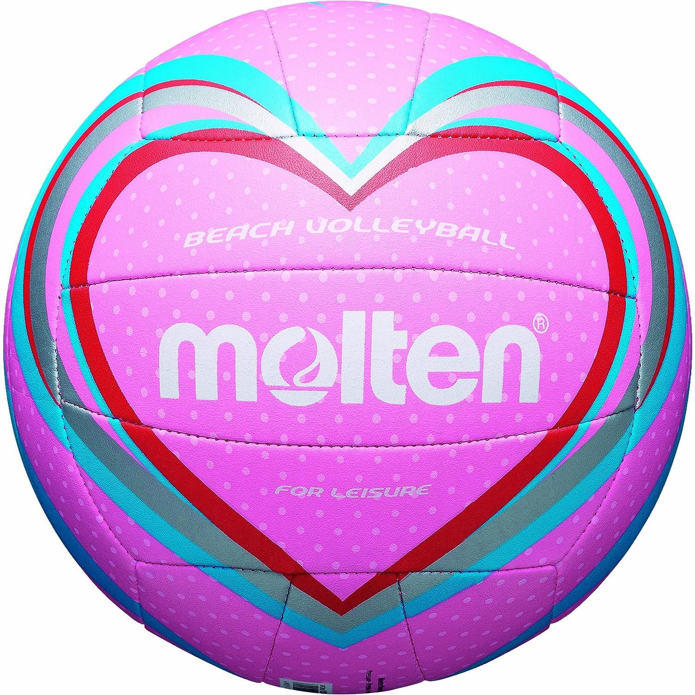 MOLTEN - Balón de Volley Playa Multicolor Pink/Blau/Rot Talla:5 ...