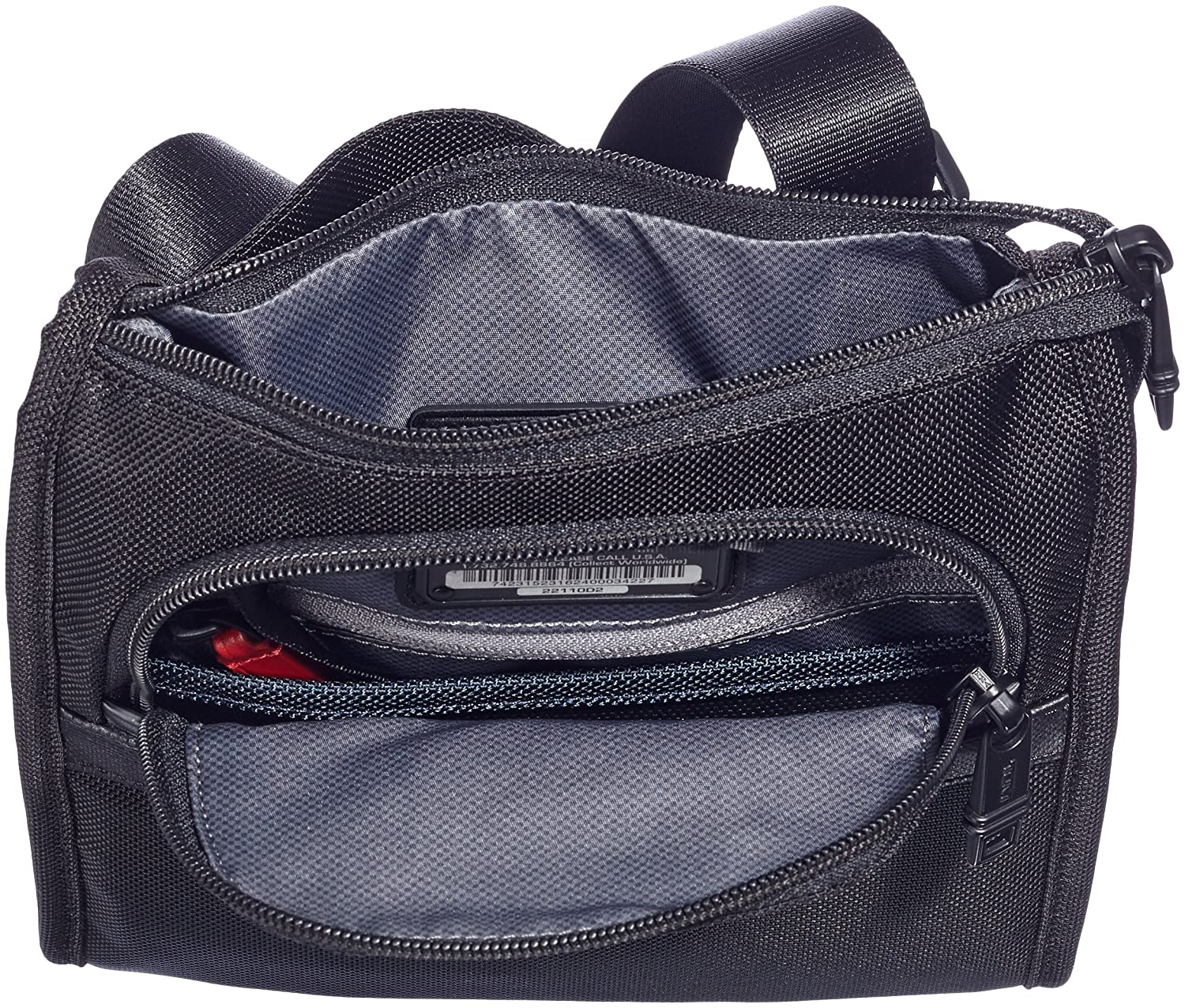Tumi Alpha 2 Pocket Bag Small Black One Size Tas Ransel Sport P722 Messenger Bags