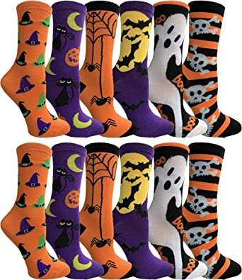 LADIES GIRLS HALLOWEEN PUMPKIN DESIGN SOCKS COTTON BLEND FESTIVE SOCK