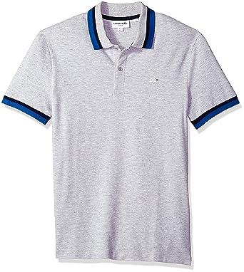 189df735ccde Lacoste Men s Short Sleeve Semi Fancy Pique Pima Stretch Slim Polo ...