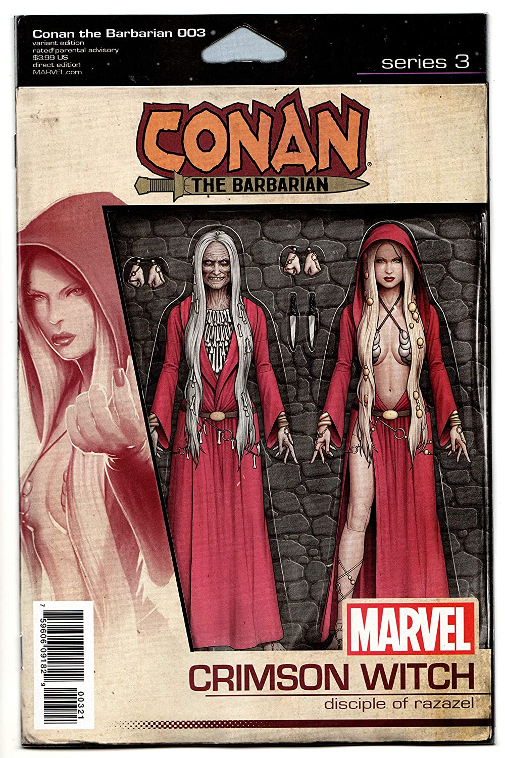Conan The Barbarian #3 Action Figure Variant Comic Book (Marvel, 2019) NM